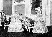 A első felvonásból - Mária Terézia (Jászai Mari), Ferencz császár(Pethes), Wilhelmina (Cs. Alszegi Irma)