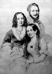 Barabás Miklós nejével és sógornőjével