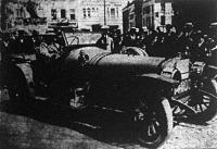 nyitott Clement-Bayard kocsi az ostendei szépségverseny győztese