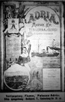 Az Adria tengerhajózási rt. hirdetése
