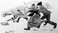 Kergetik a szerencse-malaczot (Pólya Tibor rajza)