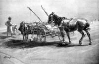 Pihenő (Pataky László egyik utolsó rajza a Vasárnapi Ujság részére)