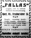 A Pallas biztosító hirdetése