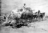 Aratás után (Pataky László rajza)