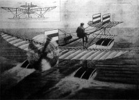 A Fabre-féle repülőgép elindulása a vizről
