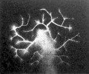 A villamos szikra kisülésének a képe