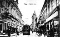 Villamos a Király utcában