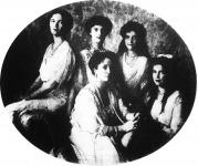 Alexandra orosz cárné leányai társaságában
