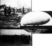 Elégett Zeppelin léghajó