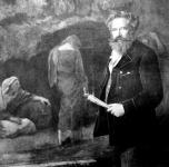 Feszty Árpád műtermében