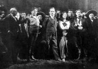 """Puccini """" A Nyugat  leánya"""" szereplői között a Magyar Kir. Operaházban"""