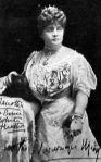 Miss Janotha autogrammos arczképe