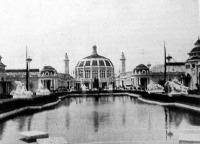 A nemzetközi kereskedelem találkozója a világkiállítás (Gand, 1913., a kiállítás főtere))