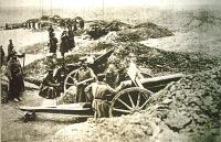 Bolgár katonák lőállásban
