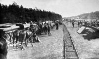Tábori vonatunk végállomása Oroszországban