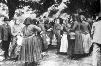 Vidéki sváb asszonyok, a temesvári gyűlésre jött gazdák feleségei