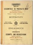 Betétkönyv (Magyar Leszámitoló és Pénzváltó Bank,1916)