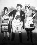 A becstelenek (a Magyar Figaro karikatúrája)