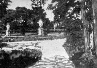 Sándor József: Nymphenburgi parkrészlet