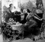 Ha a lámpát szilveszterkor éjfél után újra meggyújtják (Márton Ferencz rajza)
