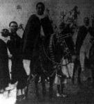Az új abesszin császár, II. Menelik