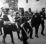A gyilkos Gavrilo Princip letartóztatása