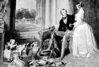 Victoria királynő, férje és első gyermekük, Victoria hercegnő