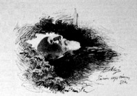 Kossuth Lajos a halottas ágyon