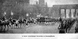 A halott trónörököspár bevonulása Bécsbe