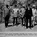 Károly Ferenc József trónörökös 14 éves korában a Hortobágyon
