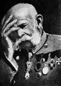 A gyászoló Ferenc József