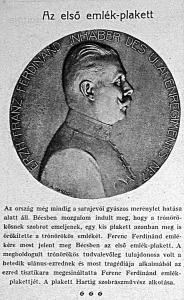 Az első emlékplakett Ferencz Ferdinándról