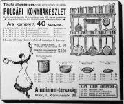 A jól felszerelt honyháért (újsághirdetés 1912-ből)