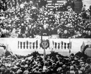 Woodrow Wilson, az új amerikai köztársasági elnök székfoglaló beszéde