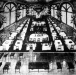"""A párisi """"Hotel Elektro Teria"""" étterme és pincehelyisége"""
