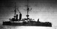 A Formidable nevű nagyobb típusú angol előörshajó, melyet a németek nemrég elsüllyesztettek