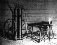 A lágnfűrész-szerkezet, amely egy sintartó levágására szolgál