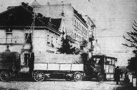 Autóvonat. Kelet-Poroszországból szállít trénanyagot a keleti front felé
