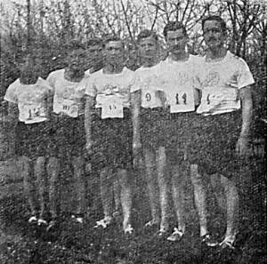 Az OTE mezei futóverseny csapata