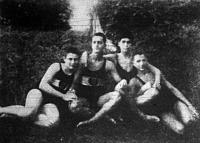 A NSC úszói Izsákovics Árpád-Farkas Ödön-Lajta Miklós-Schlenker Antal