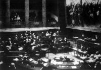 A magyar delegáció ülése