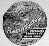Pemetefű-cukorka hirdetése