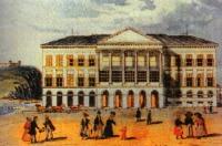 A régi tőzsdeépület Pesten