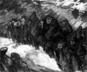 Vaszary János: Katonák egy kárpáti faluban