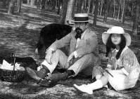 Debussy a lányával piknikezik