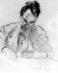 Berényi Róbert rajza Weiner Leóról