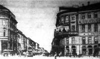 A Newski-Prospect, ahol a katonaság sortüzet adott a forradalmárokra