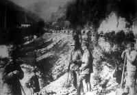 Előrenyomulásuk az Isonzó-völgyben