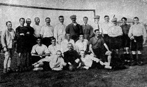 Orosz hadifogságban lévő magyarok csapata