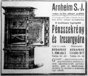 Arnheim pénzszekrény (hirdetés)